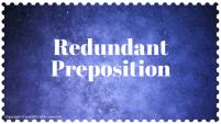Redundant Preposition2